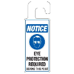 Seton Identification Products - Door Knob Hangers - Eye Protection Required - 2924D