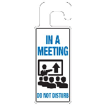 Seton Identification Products - Door Knob Hangers - In A Meeting - 2912D
