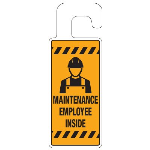 Seton Identification Products - Door Knob Hangers - Maintenance Employee Inside - 2910D