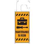 Seton Identification Products - Door Knob Hangers - Maintenance In Room - 2911D