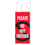 Seton Identification Products - Door Knob Hangers - Please Do Not Disturb - 2930D