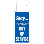 Seton Identification Products - Door Knob Hangers - Sorry Temporarily Out Of Service - 2919D