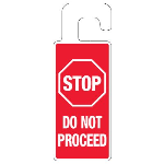 Seton Identification Products - Door Knob Hangers - Stop Do Not Proceed - 2918D