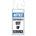 Seton Identification Products - Door Knob Hangers - Temporarily Out Of Service - 2933D