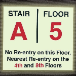 Seton Identification Products - Custom Re-Entry Stair and Floor Number Signs
