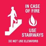 Seton Identification Products - In Case Of Fire Use Stairways Signs