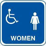 Seton Identification Products - ADA Handicapped Accessible Women's Restroom Signs
