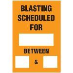 Seton Identification Products - Blasting Barricade Sign Stands - Blasting Schedule For_ And_Between_&_ - 2168C