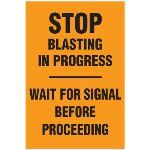Seton Identification Products - Blasting Barricade Sign Stands - Stop Blasting In Progress - Wait For Signal Before Proceeding - 216