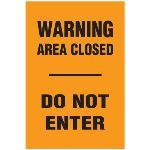 Seton Identification Products - Blasting Barricade Sign Stands - Warning Area Closed Do Not Enter - 2171C