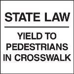 Seton Identification Products - Standard A-Frame Pedestrians In Crosswalk Signs