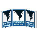 Seton Identification Products - 3D Projection Signs - Severe Weather Shelter Area - 3500D