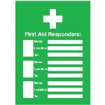 Seton Identification Products - First Aid Responders Emergency Frame With Photo Inserts - 96437