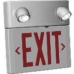 Seton Identification Products - Combination Exit Sign With Top Mounted Emergency Lights