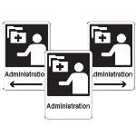 Seton Identification Products - Health Care Facility Wayfinding Signs - Administration