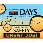 Seton Identification Products - LED Message Safety Scoreboard - Make Time For Safety - 88014