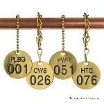 Seton Identification Products - Stock Abbreviated-Wording Brass Valve Tags