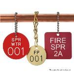 Seton Identification Products - Custom Fire Sprinkler Valve ID Tags