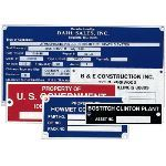 Seton Identification Products - Custom Metal Equipment Nameplates