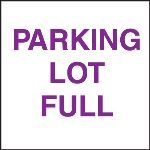 Seton Identification Products - Standard A-Frame Parking Lot Full Signs