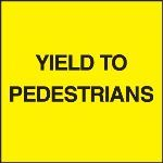 Seton Identification Products - Standard A-Frame Yield To Pedestrians Signs