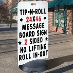 Seton Identification Products - Tip N Roll Portable Sign - Standard Message Board - 98007