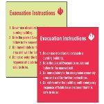 Seton Identification Products - Custom Evacuation Procedure Signs