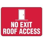 Seton Identification Products - Roof Access Signs - No Exit Roof Access - l4007