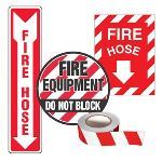 Seton Identification Products - Fire Equipment Marking Kits - Fire Hose