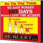 Seton Identification Products - Electronic Safety Scoreboard - Be On Our Team - 4084D