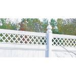 CertainTeed Bufftech - Columbia with Lattice Accent Semi-Private Fence