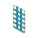 "EFCO - 2"" x 4 1/2"" Multi-Plane Storefront Framing - Series 433 Triple Set™ (T)"