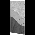 VT Industries, Inc. Architectural Wood Doors - 5502H Crossbanded Particleboard Core Flush Wood Veneer Door