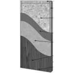 VT Industries, Inc. Architectural Wood Doors - 5515H Crossbanded Lead Lined Core Flush Wood Veneer Door