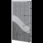 VT Industries, Inc. Architectural Wood Doors - 5P50H SR-20PP Crossbanded Sound Core Flush Wood Veneer Door