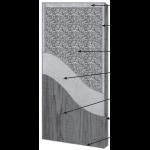 VT Industries, Inc. Architectural Wood Doors - 5P50H SR-45PP Crossbanded Sound Core Flush Wood Veneer Door