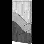 VT Industries, Inc. Architectural Wood Doors - 5540H Crossbanded Sound Core Flush Wood Veneer Door