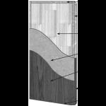 VT Industries, Inc. Architectural Wood Doors - 5P40H SR-20PP-5 Crossbanded Sound Core Flush Wood Veneer Door