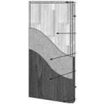 VT Industries, Inc. Architectural Wood Doors - 5P40H SR-45PP-5 Crossbanded Sound Core Flush Wood Veneer Door