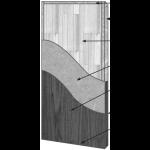 VT Industries, Inc. Architectural Wood Doors - 5507H Crossbanded Stave Lumber Core Flush Wood Veneer Door