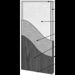 VT Industries, Inc. Architectural Wood Doors - 5P11H Crossbanded Mineral Core Flush Wood Veneer Door