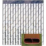 PrivacyLink - Decorative Chain Link Fence Privacy Slats - Bottom-Locking Double-Wall Slats