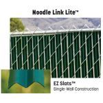 "PrivacyLink - Chain Link Fence with ""Factory Inserted Slats""™ - Noodle Link Lite™ (2″ Mesh Semi-Privacy)"