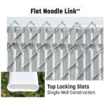 "PrivacyLink - Chain Link Fence with ""Factory Inserted Slats""™ - Flat Noodle Link™ (2″ Mesh Semi-Privacy)"