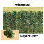 "PrivacyLink - Chain Link Fence with ""Factory Inserted Slats""™ - HedgeMaster™ (2"" Mesh - Semi Privacy)"