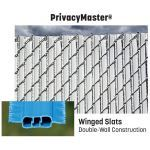 "PrivacyLink - Chain Link Fence with ""Factory Inserted Slats""™ - PrivacyMaster® (2"" Mesh - Near Total Privacy)"
