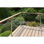 Atlantis Rail Systems - SunRail™ Latitude - Stainless Steel Cable Railing System w/Wood Handrail