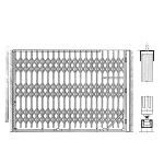 Acorn Wire and Iron Works - Bostwick Series 5766S Shallow Cabinet Single Gate