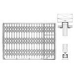 Acorn Wire and Iron Works - Bostwick Series 5765S Deep Cabinet Single Gate