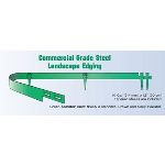 "Collier Metal Specialties, Inc. - 1007 Commercial Landscape Edging - 10' x 3/16"" x 4"""